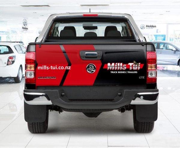 millstui-vehicle-signage-rear