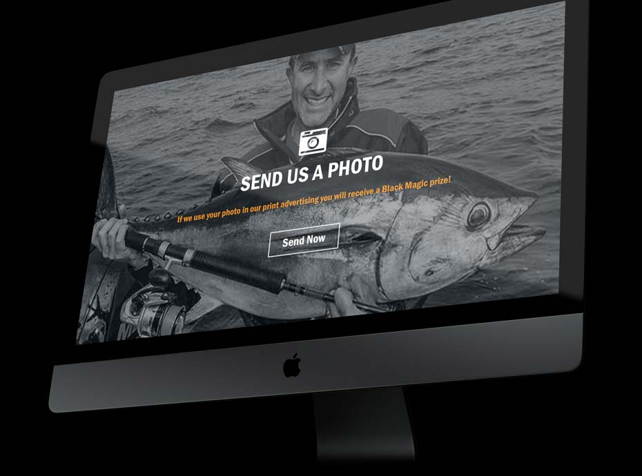Web Design for Black Magic Fishing