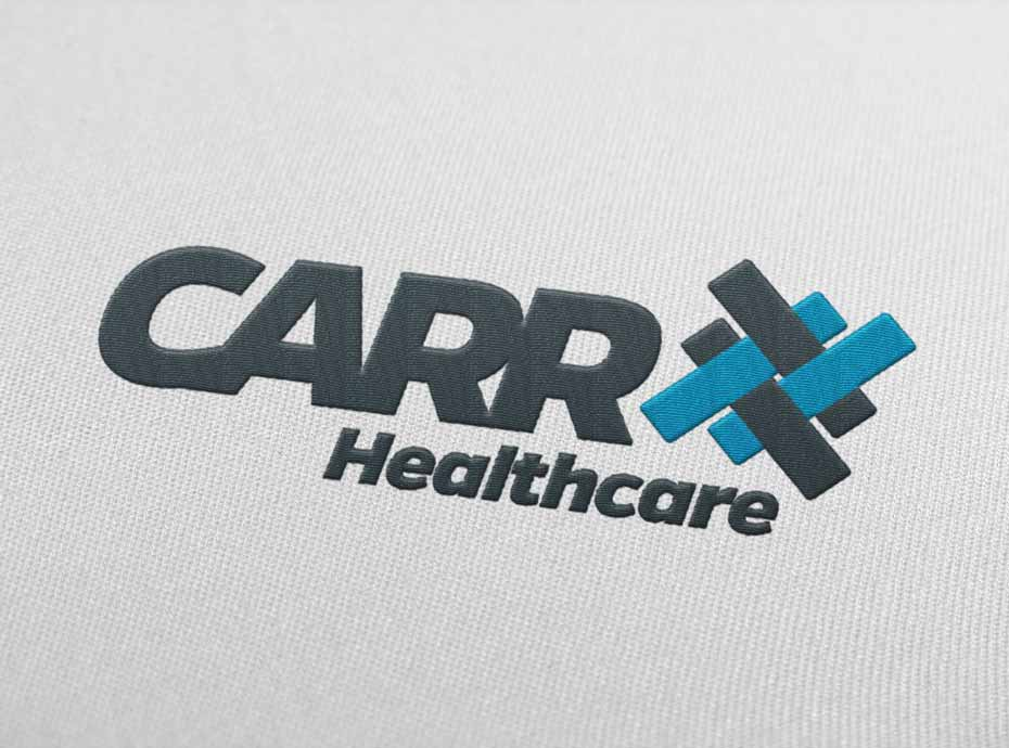 Embroidered logo for Carr Group