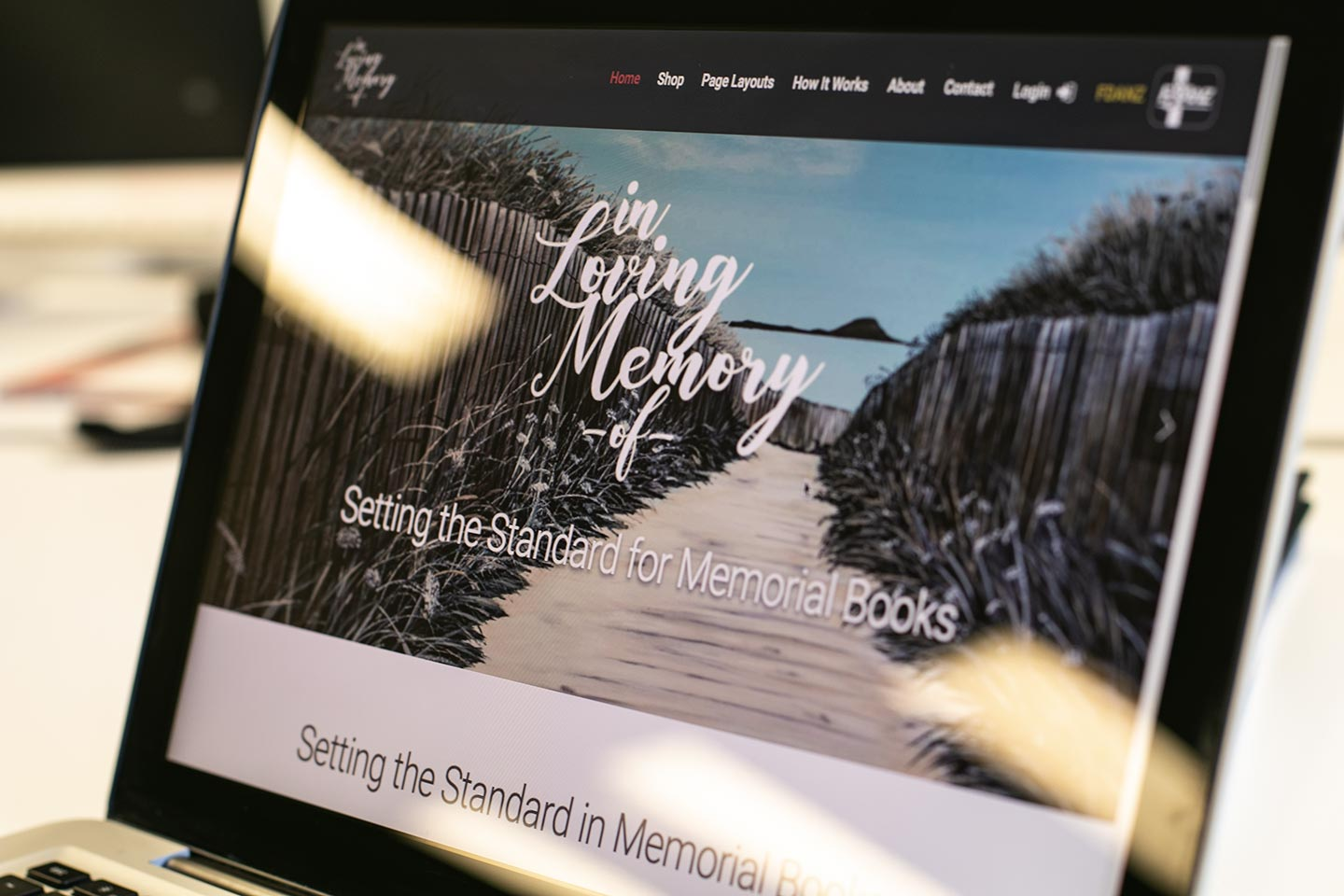 Responsive website design for In Loving Memory Of