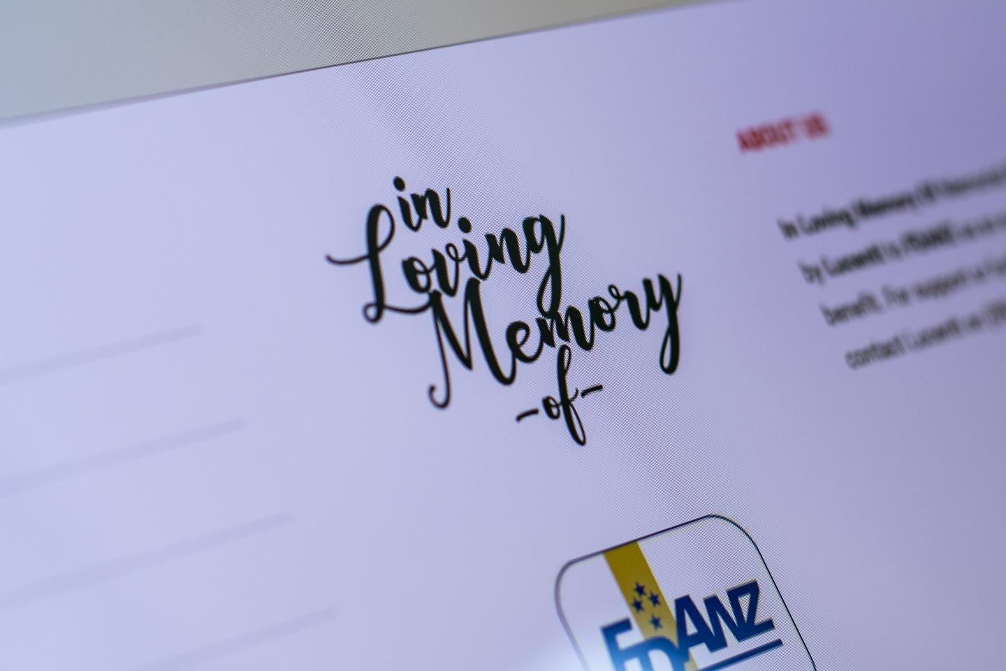 Branding for In Loving Memory Of