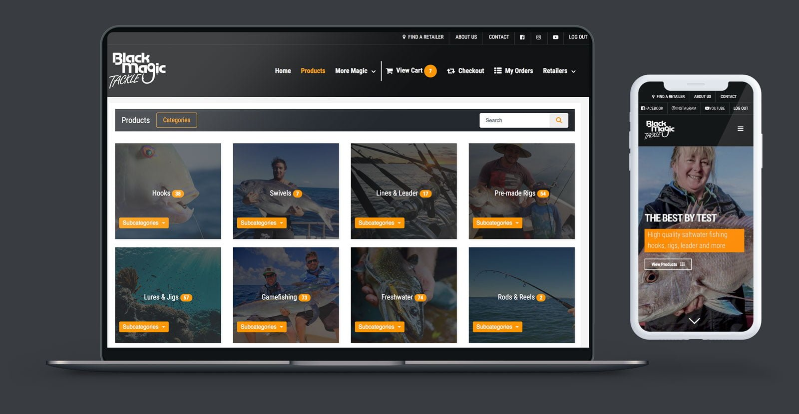 Black Magic Fishing website design