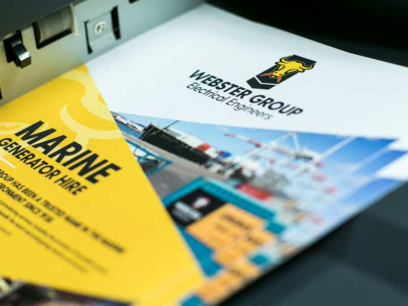 Digital printing for Webster Group