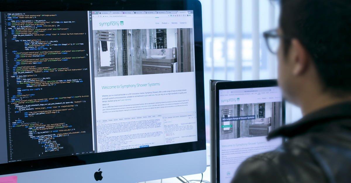 Website design for Symphony Shower Systems
