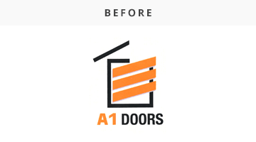 a1 doors logo before