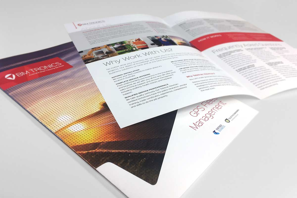 Brochure design for BM Tronics