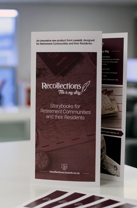 Brochure design for Recollections