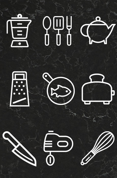 Icon designs for Creative Kitchens
