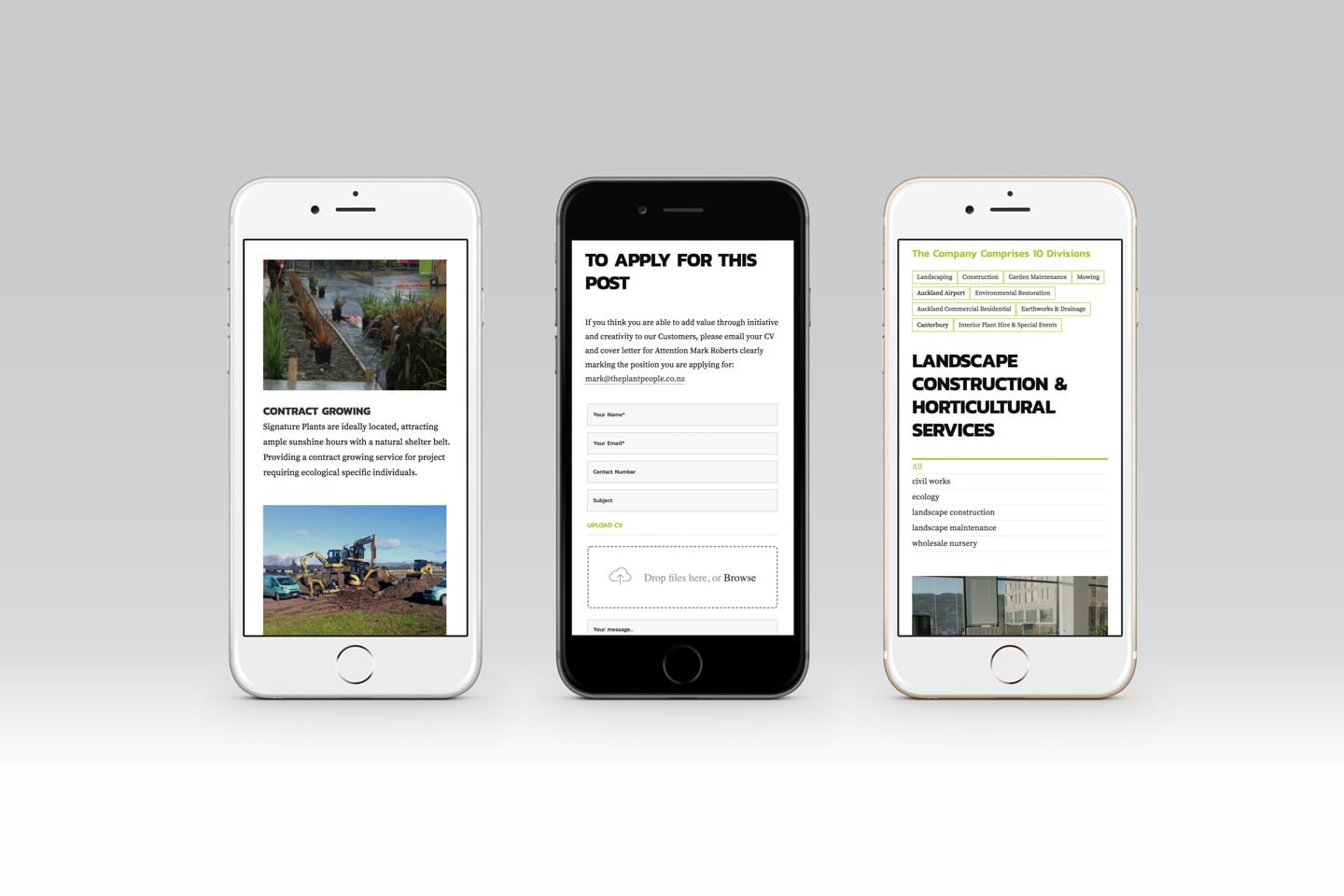 Responsive website design for The Plant People