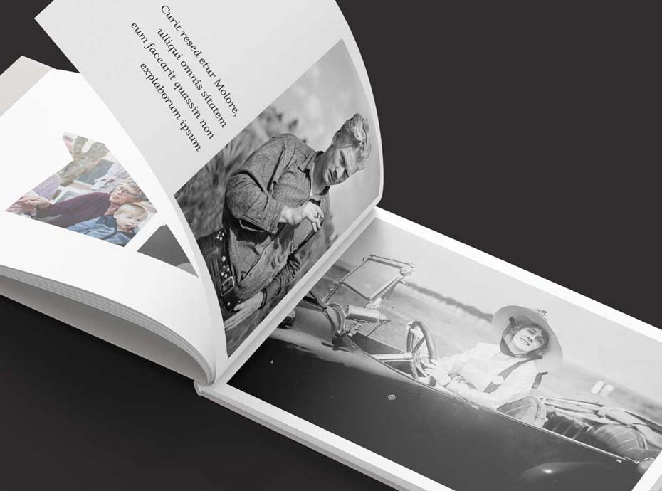 Recollections book design