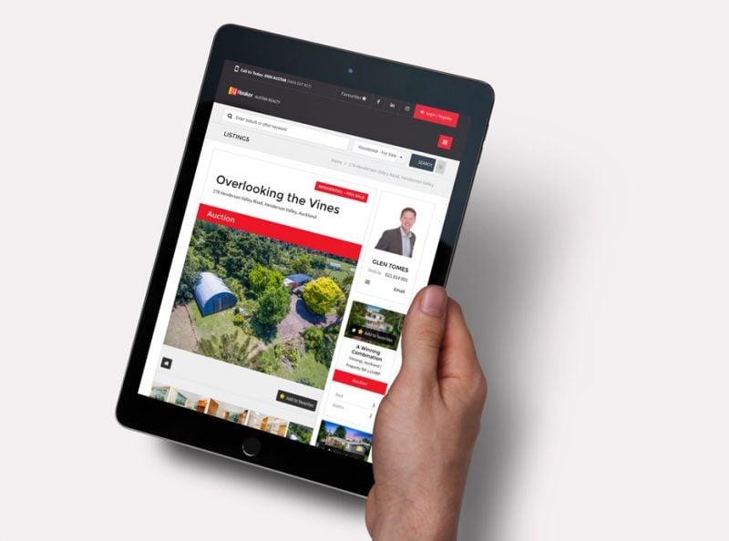 Mobile friendly web design for LJ Hooker