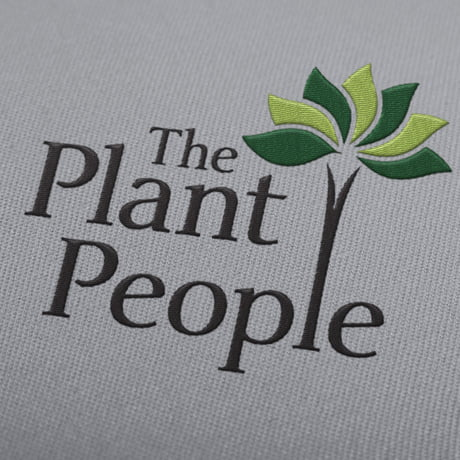 Embroidered logo design for The Plant People