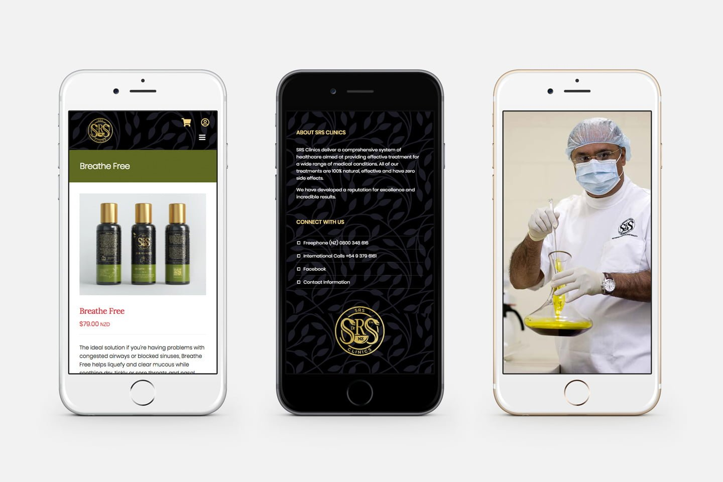 Mobile friendly web design for SRS Clinics
