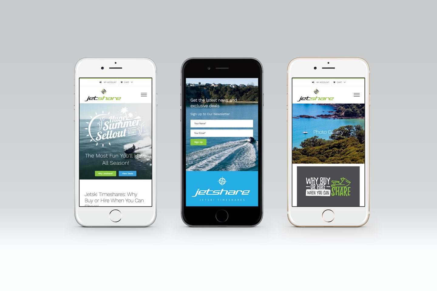 jetshare mobile phone web design