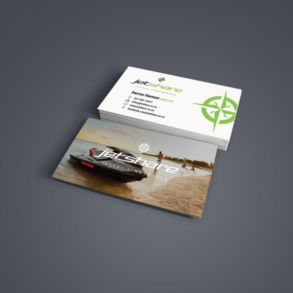 jetshare business card graphic design