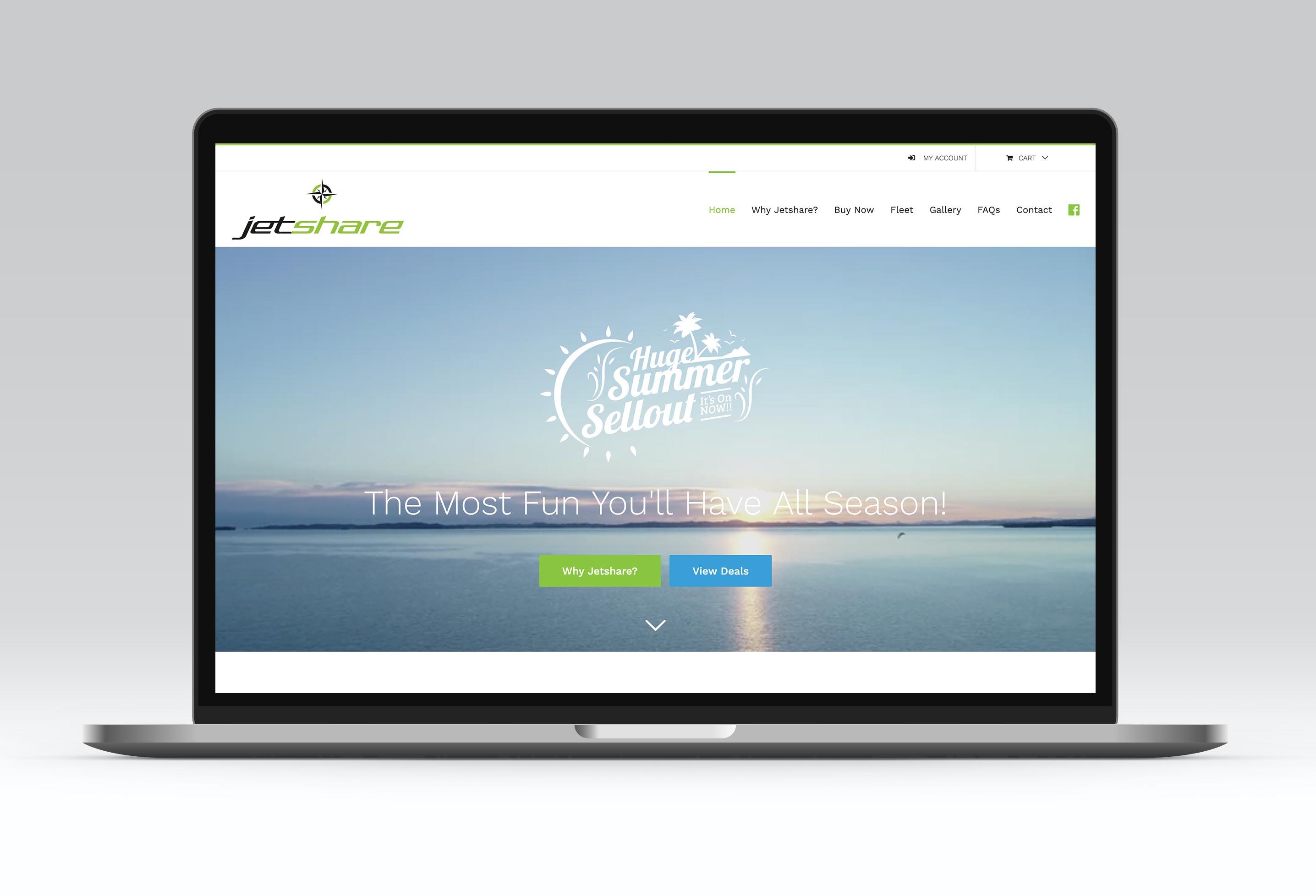 jetshare website development