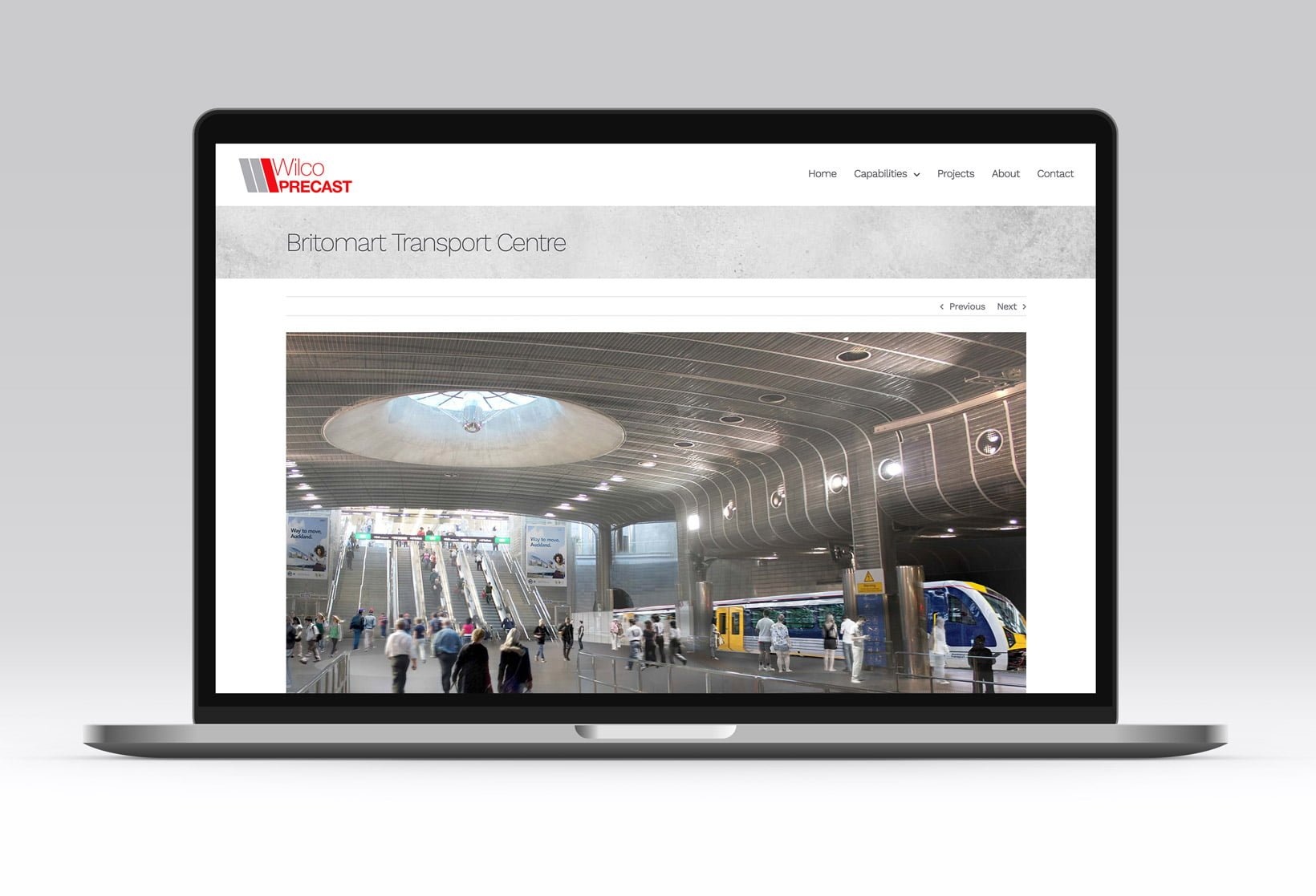 wilco precast website design 2019