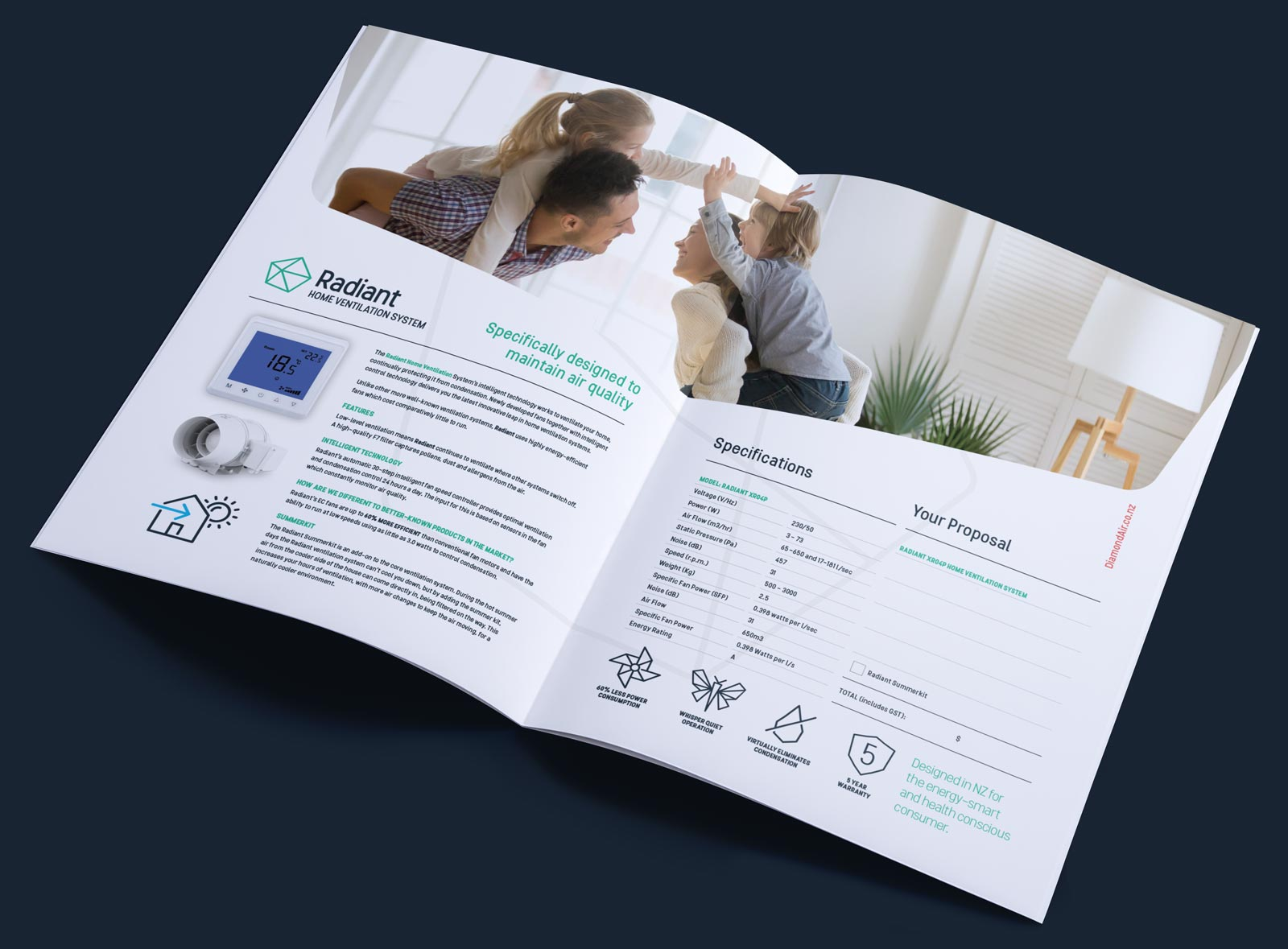 diamond-air-radiant-a4-brochure-design