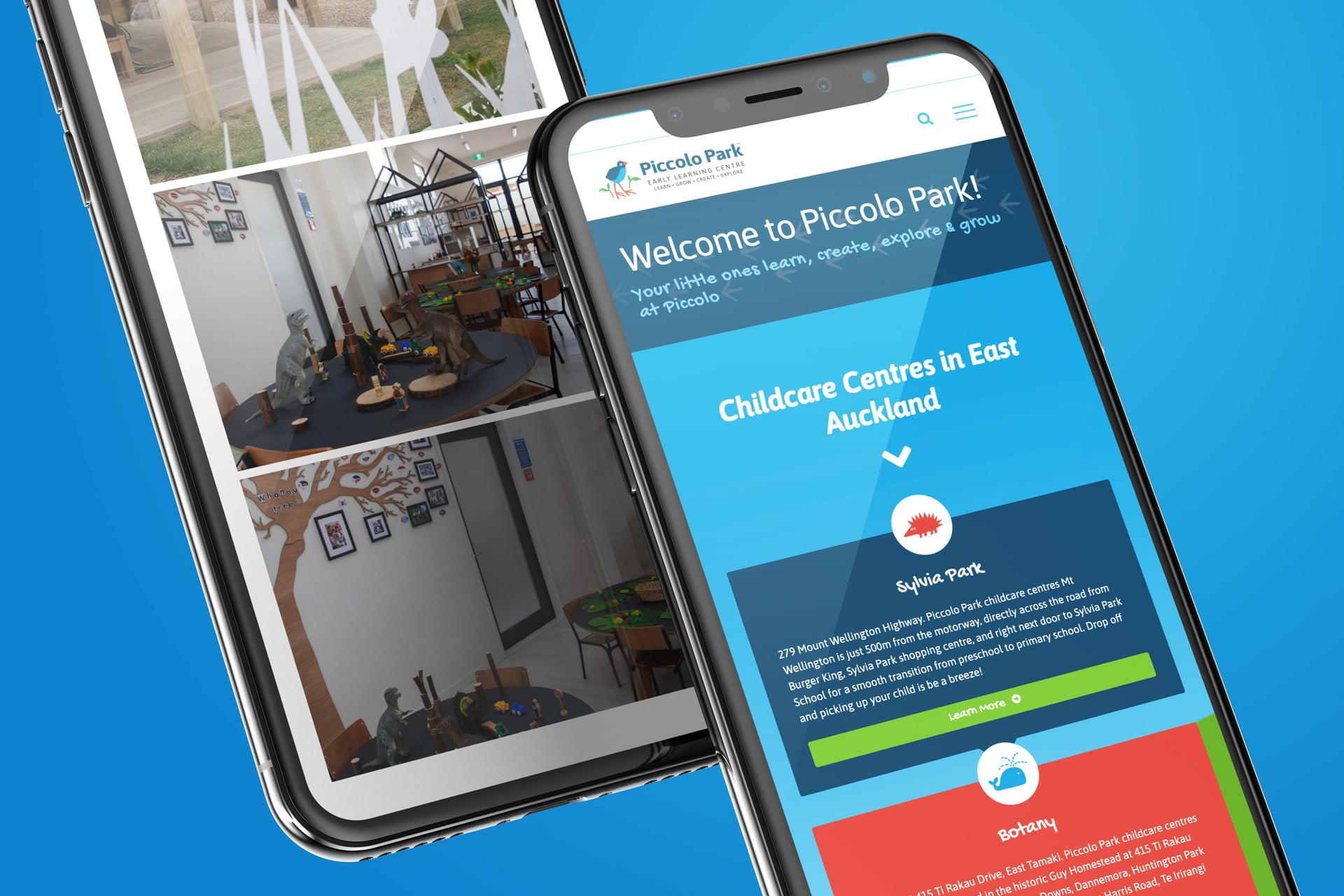 piccolo park mobile friendly website design 01